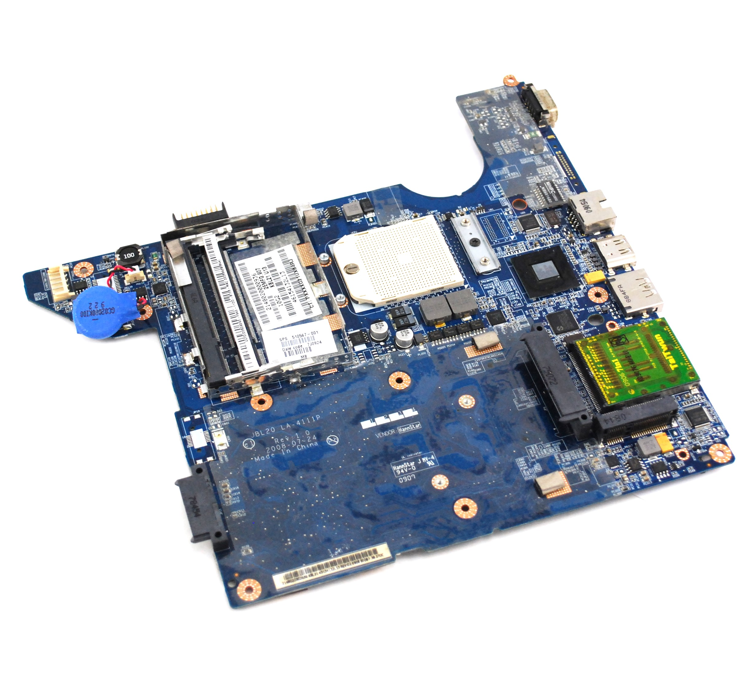 Hp Compaq 510567-001 Laptop Motherboard For Sale
